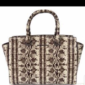 Michael Kors Large snakeskin Selma Handbag